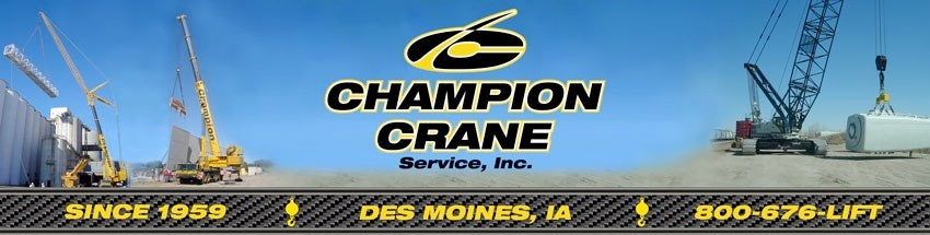 Serving your crane rental needs since 1959 - About Us - Champion